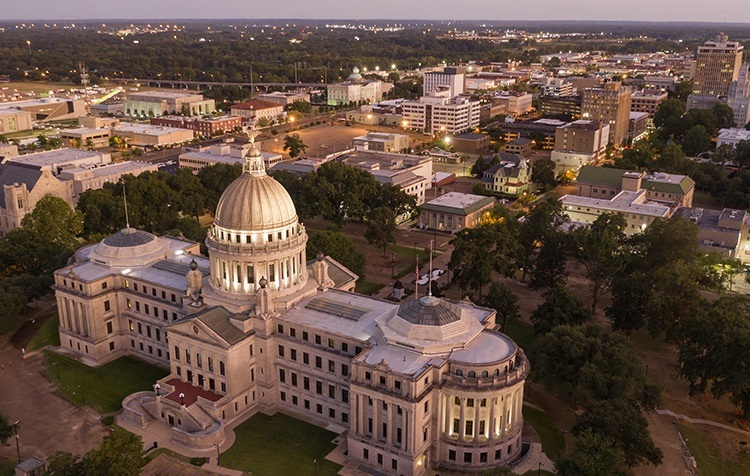 The State Capital Building in Jackson, Mississippi
