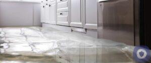 Kitchen water leak